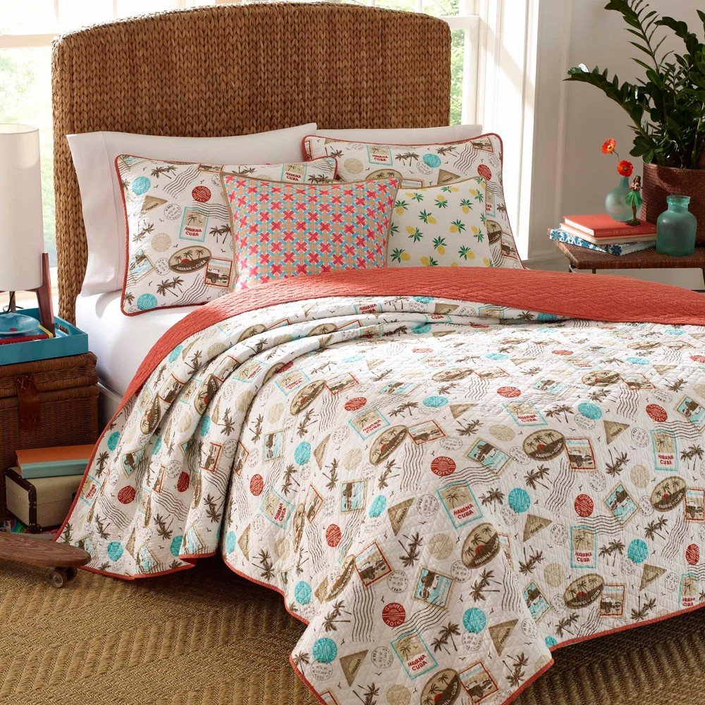 Image of Brown Havana Quilt Set (Full/Queen) - Nine Palms