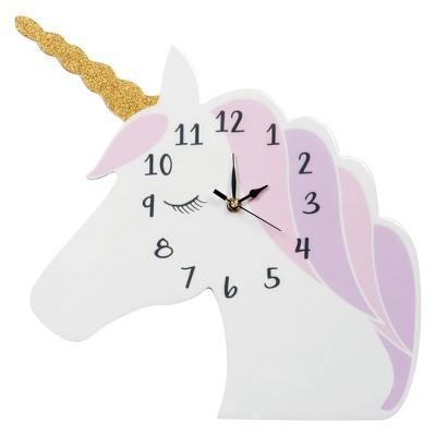 Trend Lab Unicorn Head Wall Clocks - White
