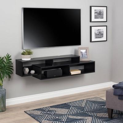 Modern Wall Mounted Media Console and Storage Shelf - Prepac