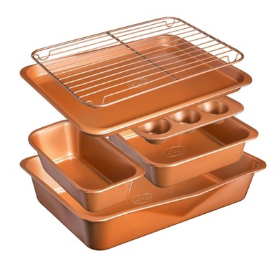 Gotham Steel Cast Textured Copper 6pc Bakeware Set