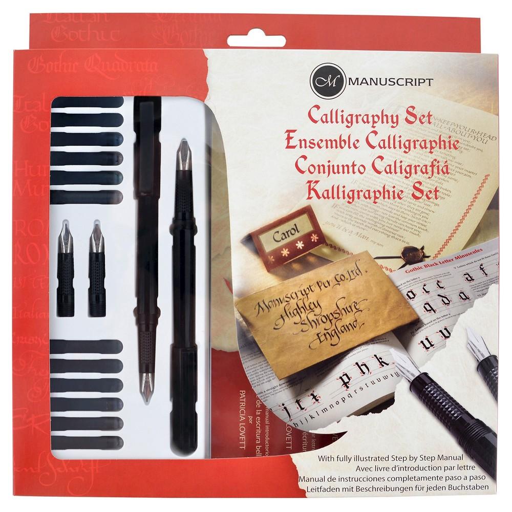 Image of Manuscript Calligraphy Pen Set - Black, 21ct