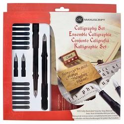 Manuscript Calligraphy Pen Set - Black, 21ct