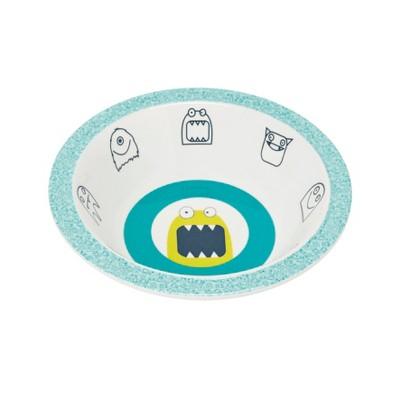 Lassig Little Monsters Bouncing Bob Bowl - Blue