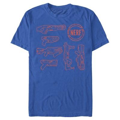 Men's Nerf Favorite Blaster Outline T-Shirt