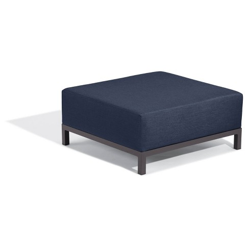 Koral Ottoman Carbon/Spectrum Indigo - Oxford Garden - image 1 of 4