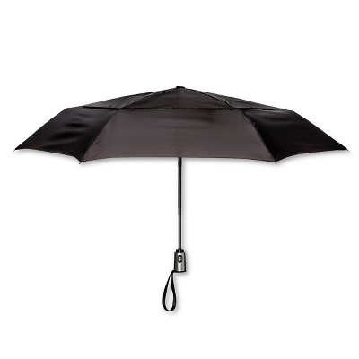 ShedRain Auto Open/Close Air Vent Compact Umbrella  - Black