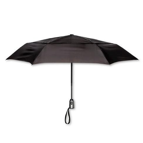 ShedRain Auto Open/Close Air Vent Compact Umbrella  - Black - image 1 of 1