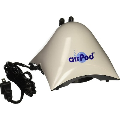 Penn-Plax Air Pod Aquarium Pump Ultra Quiet Dome Dual Air Up to 75 Gallon