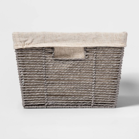 "17'' x12""x 8"" Twisted Paper Rope Large Tapered Basket Gray - Threshold™ - image 1 of 3"