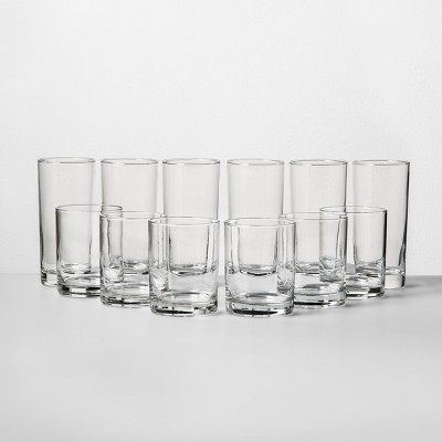 12pc Glass Tall and Short Tumbler Set - Room Essentials™