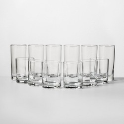 Tall And Short Glass Tumbler Set - Room Essentials™