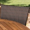 Avoca 5pc Acacia & Wicker Dining Set - Teak/Brown - Christopher Knight Home - image 3 of 4