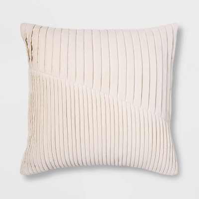 Square Pleated Velvet Pillow Cream - Project 62™