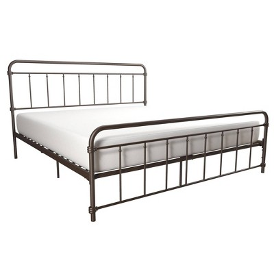 King Waldorf Metal Bed Bronze - Room & Joy