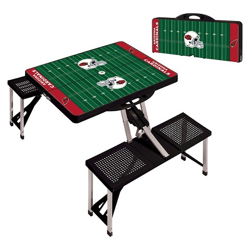 NFL Portable Picnic Table with Sports Field Design by Picnic Time - Black - image 1 of 3
