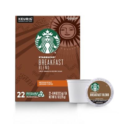 Starbucks Breakfast Blend Light Roast Coffee - Keurig K-Cup Pods - 22ct