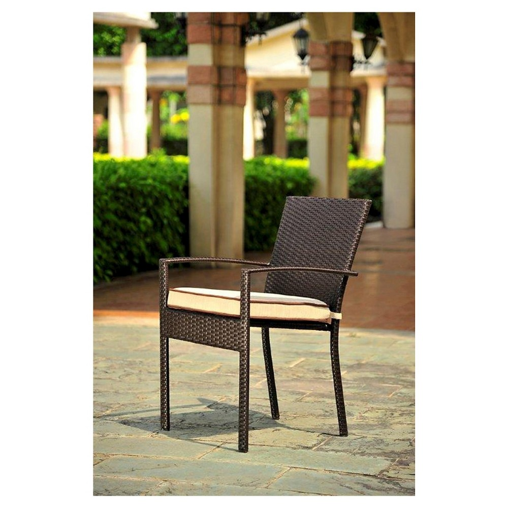 Harrison 4pc All Weather Wicker Patio Dining Chair Set - Threshold