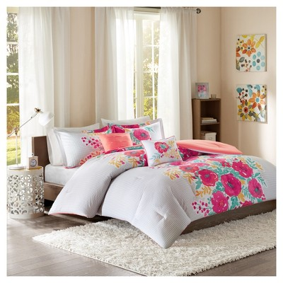 Coral Suri Printed Comforter Set (Full/Queen)5pc