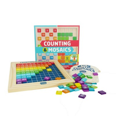 Chuckle & Roar Counting & Mosaics Montessori Learning Activity Board