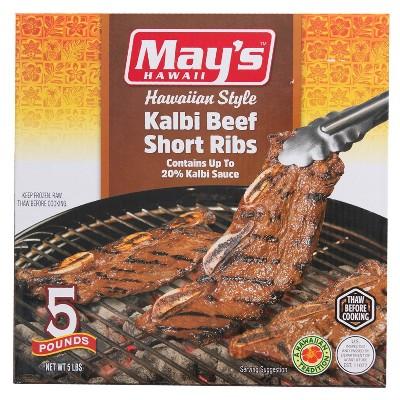 May's Hawaii Kalbi Beef Short Ribs - Frozen - 5lbs