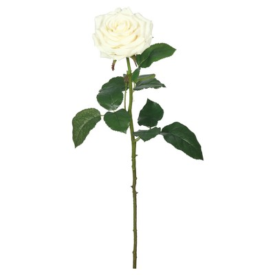 Artificial (Pk/3)Real Touch Rose (26 )Cream - Vickerman