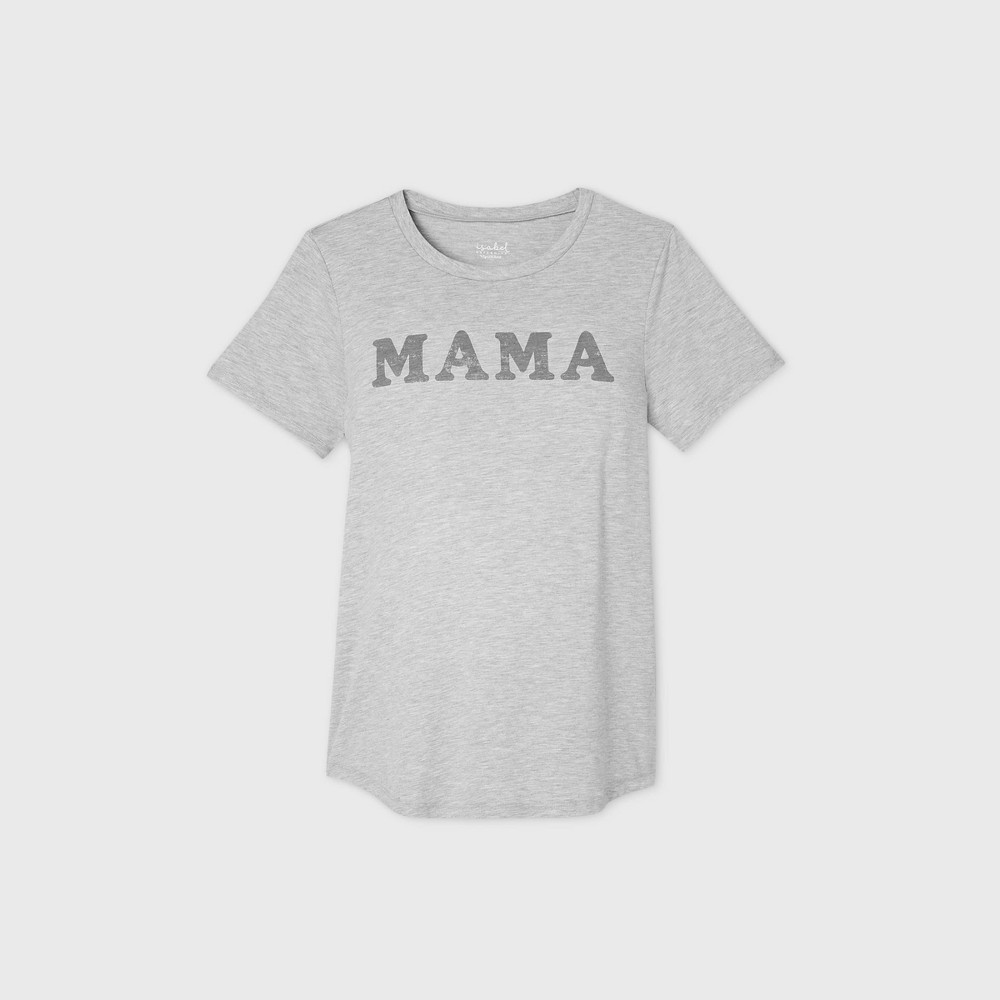 Maternity 34 Mama 34 Short Sleeve Scoop Neck Graphic T Shirt Isabel Maternity By Ingrid 38 Isabel 8482 Gray Xs