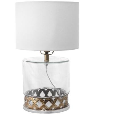 "nuLOOM Wichita Glass 12"" Table Lamp Lighting - Clear Glass 12"" H x 8"" W x 8"" D"