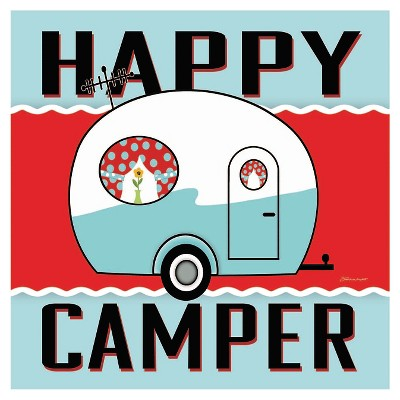 Thirstystone Happy Camper - Blue Coaster Set of 4