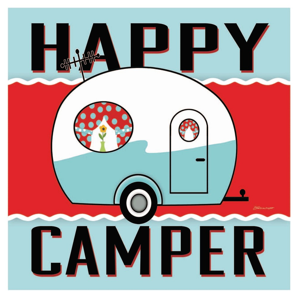 Image of Thirstystone Happy Camper - Blue Coaster Set of 4