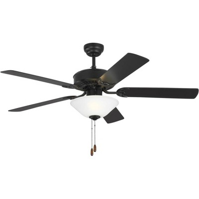 "52"" Monte Carlo Haven LED 2 Matte Black Pull Chain Ceiling Fan"