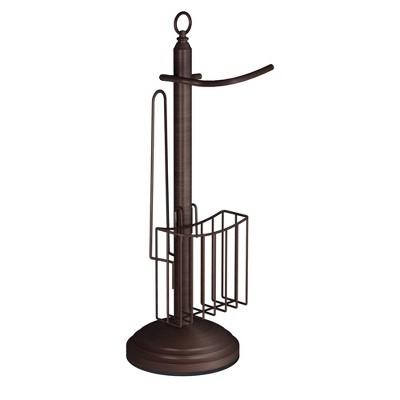 Freestanding Toilet Tissue Holder Bronze - Nu Steel