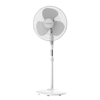 """Climature 16"""" Oscillating Portable Fan With Remote Control White"""