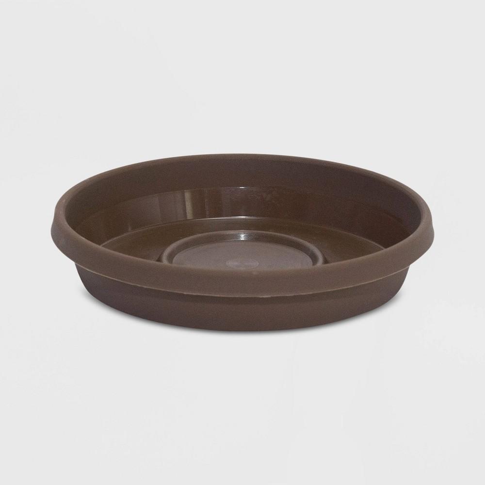 8 Plastic Terra Plant Saucer Tray Chocolate Brown - Bloem