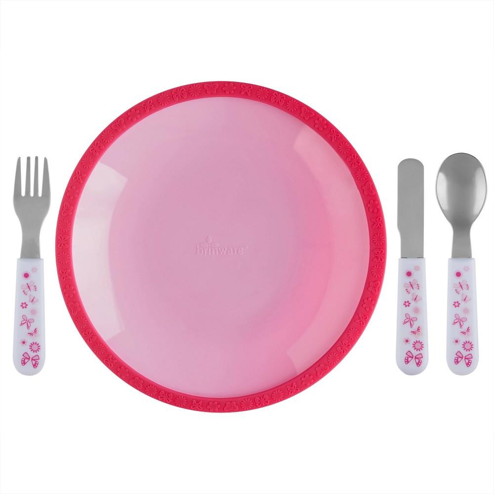 Compare 5pc Silicone Plate and Utensil Set  - Brinware