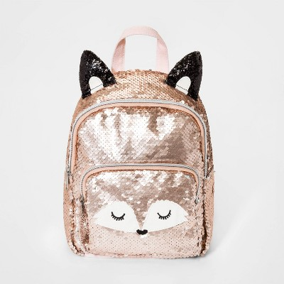 Girls' Flip Sequin Fox Mini Backpack - Cat & Jack™ Pink