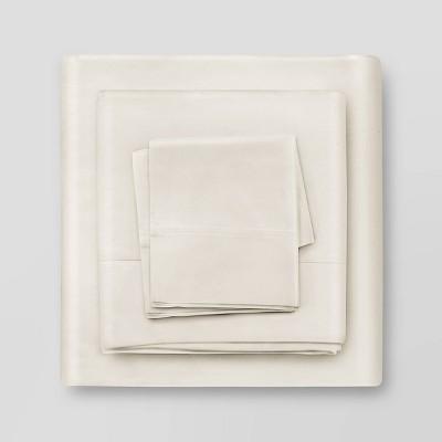 King 400 Thread Count 100% Cotton Sheet Set Vanilla - Air Rich