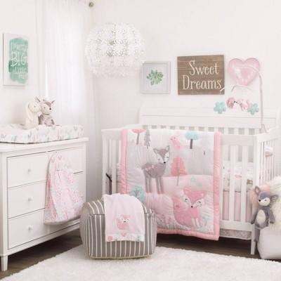 Nojo Sweet Forest Friends Nursery Crib Bedding Set - 4pc