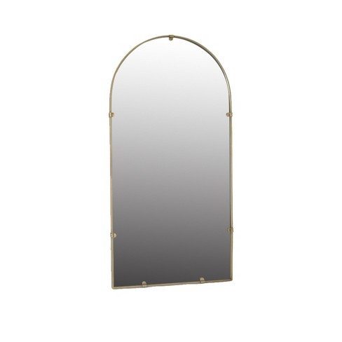 "18""x36"" Industrial Arc (Powder Coat) Decorative Wall Mirror Brass - Threshold™ - image 1 of 2"