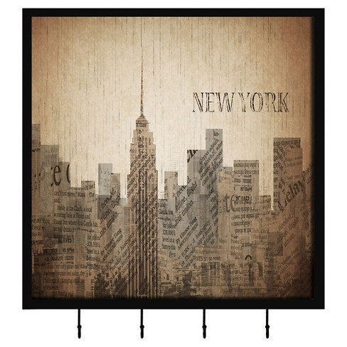 New York Cityscape Decorative Box With Metal Hooks - image 1 of 1