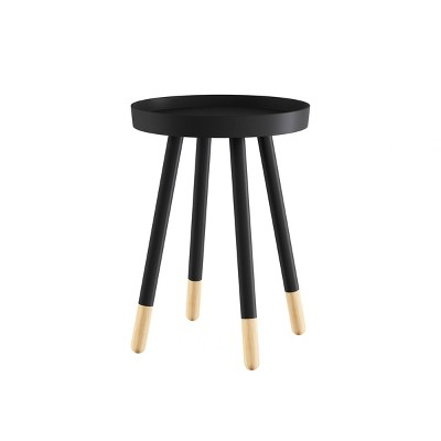Round End Table with Tray Top - Lavish Home