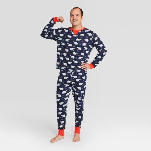 5a188928a3 Men s Holiday Animals Pajama Set - Wondershop™ Navy 2XL   Target