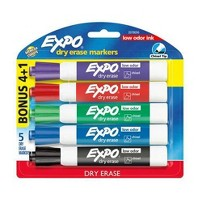 Target.com deals on 4-Pk Expo Chisel Tip Dry Erase Markers Low Odor + 1 Bonus