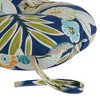 "Set of Two 18"" Marlow Floral Outdoor Bistro Chair Cushions - Kensington Garden - image 3 of 4"