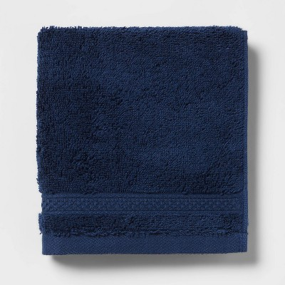 Perfectly Soft Solid Washcloth Navy Blue - Opalhouse™