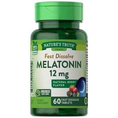 Nature's Truth Melatonin Fast Dissolve Tablets - Berry - 60ct