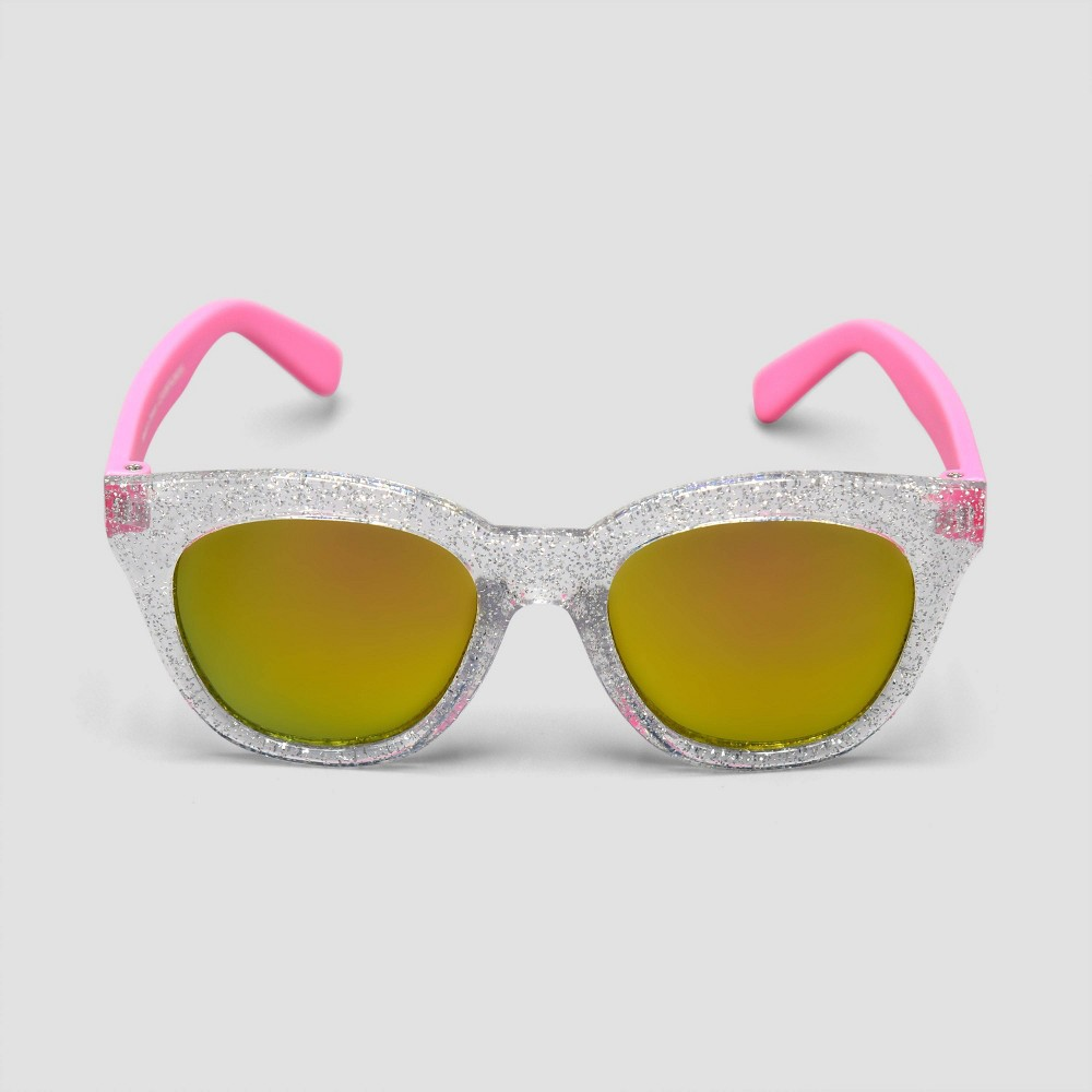 Image of Baby Girls' Cateye Glitter Sunglasses - Just One You made by carter's Pink, Girl's, Size: Small