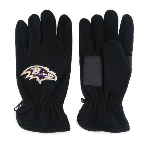 NFL Baltimore Ravens Leather Grip Fleece Gloves - image 1 of 1