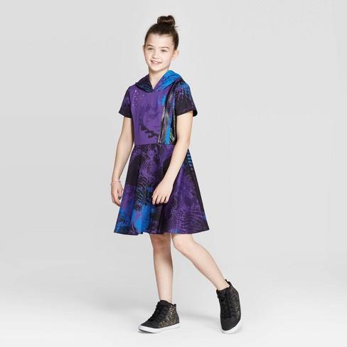 Girls' Descendants 3 Mal Cosplay Dress - Purple