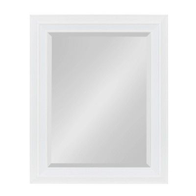 "24"" x 30"" Whitley Framed Wall Mirror White - Kate and Laurel"
