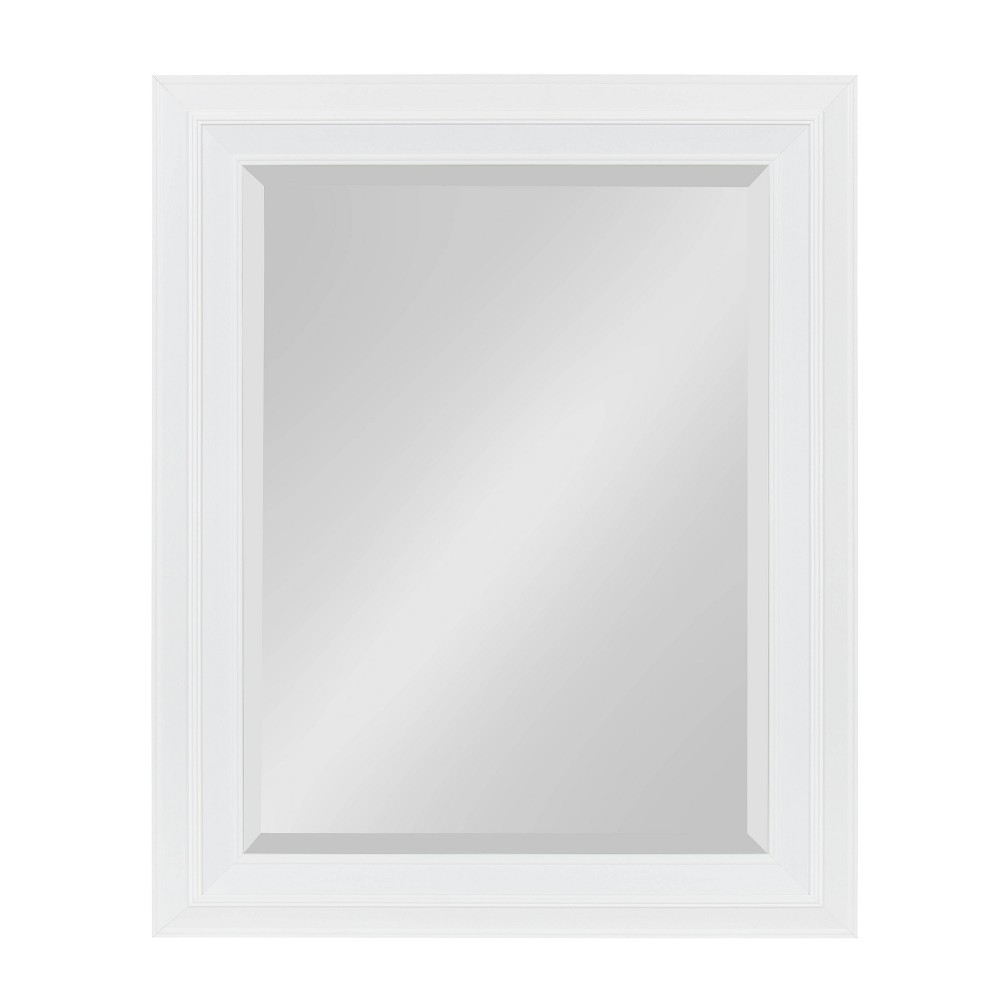 """Image of """"23.5""""""""x29.5"""""""" Whitley Framed Wall Mirror White - Kate and Laurel"""""""